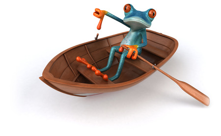 Fun frog- 3D Illustration