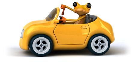 Fun frog- 3D Illustration Stock Illustration - 89345875