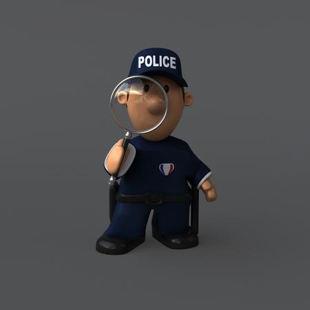 警察 - 3Dイラスト 写真素材