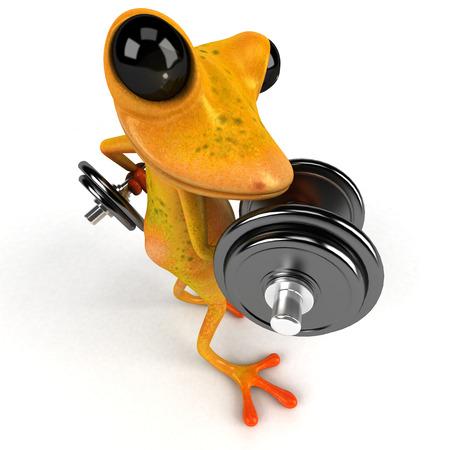 Fun frog - 3D Illustration Stock Illustration - 90516740