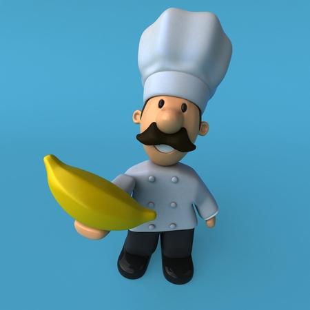 Fun chef - 3D Illustration Stok Fotoğraf - 90516831