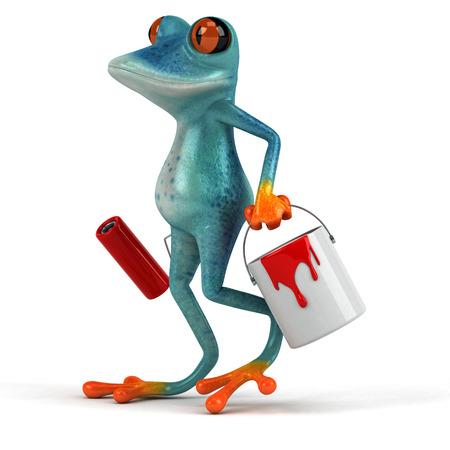 Fun frog - 3D Illustration Stock Illustration - 90517899