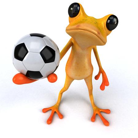Fun frog - 3D Illustration Stock Illustration - 90518085
