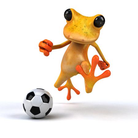Fun frog - 3D Illustration Stock Illustration - 90518308