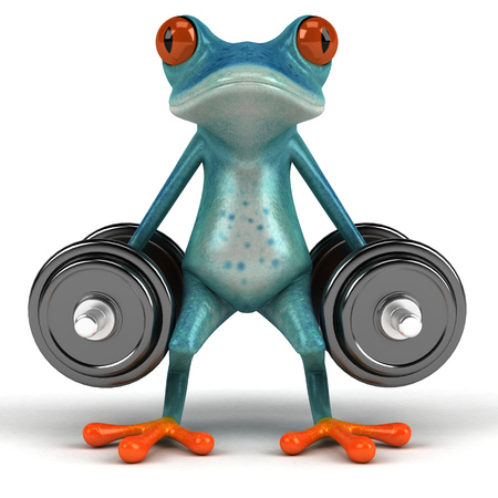 Fun frog - 3D Illustration Stock Illustration - 90518371