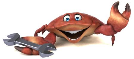 Fun crab - 3D Illustration Stock Photo