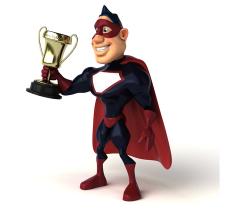 Fun superhero - 3D Illustration Stock fotó