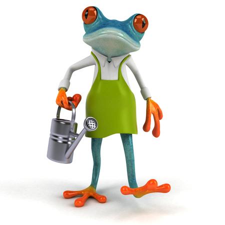 Fun frog - 3D Illustration Stock Illustration - 90605591