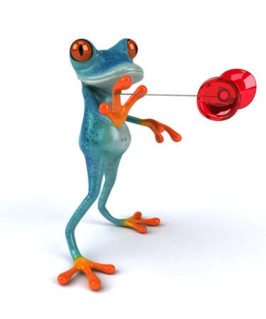 Fun frog - 3D Illustration
