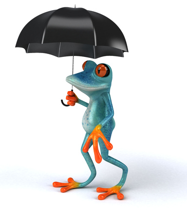 Fun frog - 3D Illustration Stock Illustration - 90599329