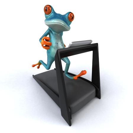 Fun frog - 3D Illustration Stock Illustration - 90605535