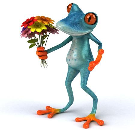 Fun frog - 3D Illustration Stock Illustration - 91091923