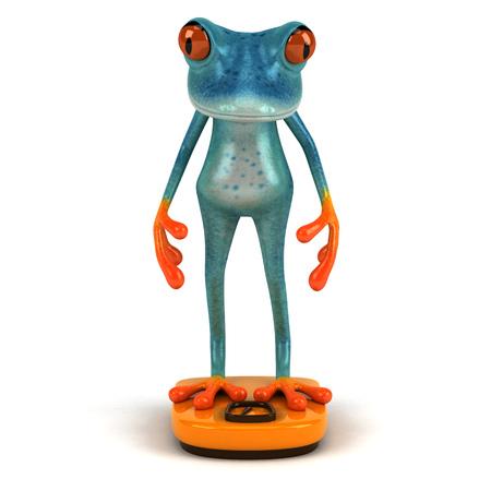 Fun frog - 3D Illustration Stock Illustration - 91135923