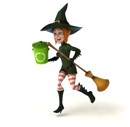 Sexy witch - 3D Illustration Stock Photo
