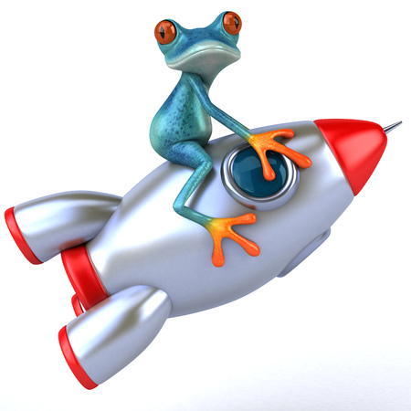 Fun frog - 3D Illustration Stock Illustration - 91137029