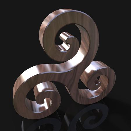 スパイラル - 3 D イラストレーション
