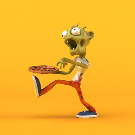 Fun zombie - 3D Illustration Stock Photo