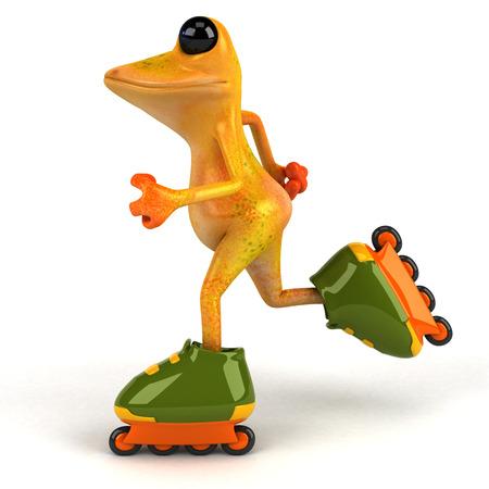 Fun frog - 3D Illustration Stock Illustration - 95051538