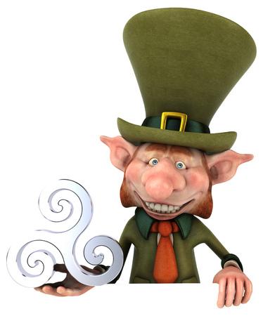 Fun leprechaun - 3D Illustration 写真素材 - 95050787