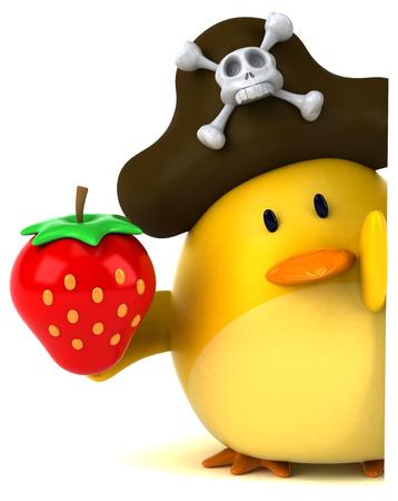 Yellow bird - 3D Illustration Stock fotó