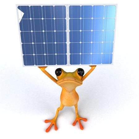 Fun frog - 3D Illustration Stock Illustration - 95053694