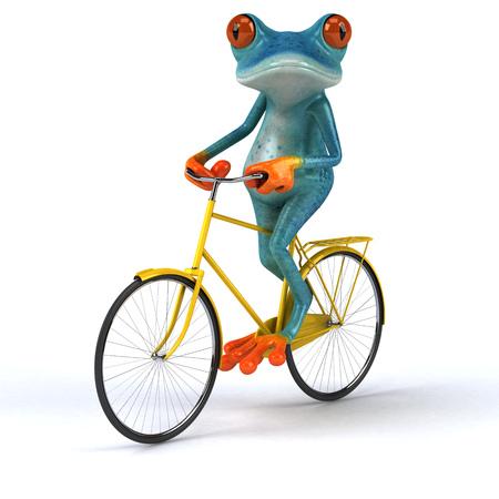 Fun frog - 3D Illustration Stock Illustration - 95083869