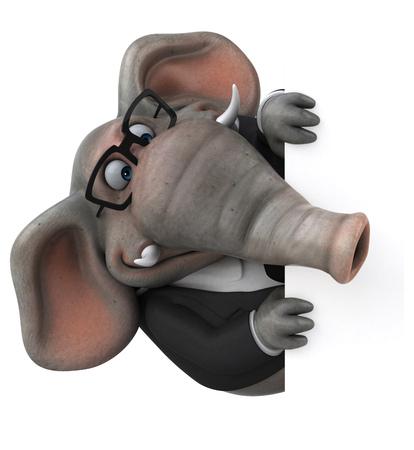 Fun elephant - 3D Illustration Banco de Imagens