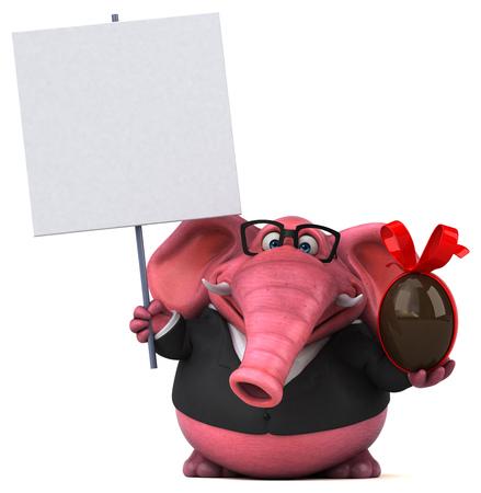 Pink elephant - 3D Illustration