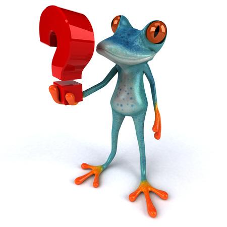 Fun frog - 3D Illustration Stock Illustration - 95054536