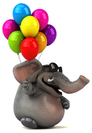 Fun elephant - 3D Illustration Stock fotó