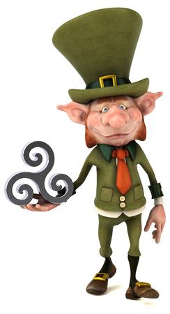 Fun leprechaun - 3D Illustration 写真素材 - 95088158