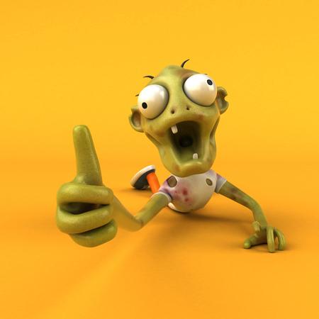 Fun zombie - 3D Illustration Stock Photo