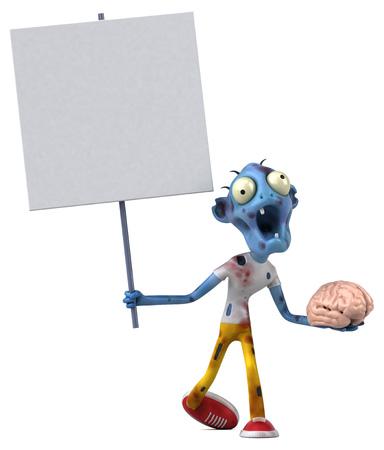 Diversión del zombi - ilustración 3d Foto de archivo - 95056159