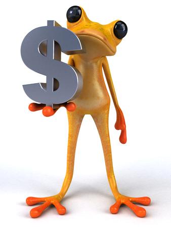 Fun frog - 3D Illustration Stock Illustration - 103876896