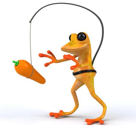 Fun frog - 3D Illustration Stock Illustration - 103893702