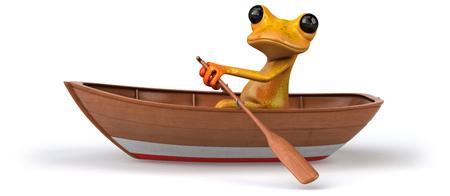 Fun frog- 3D Illustration Stock Illustration - 103932341
