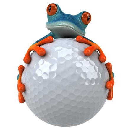 Fun frog - 3D Illustration Stock Illustration - 103933608