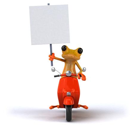 Fun frog- 3D Illustration Stock Illustration - 104020616