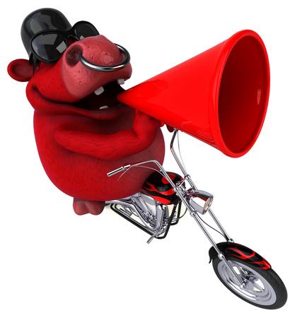 Fun bull - 3D Illustration Stock Illustration - 104023978