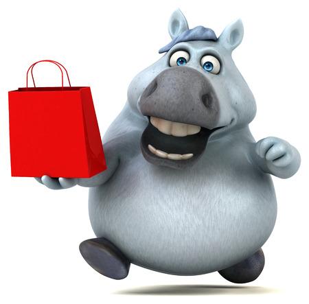 Fun horse - 3D Illustration Imagens