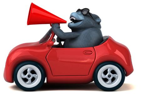 Fun gorilla - 3D Illustration Standard-Bild - 104062303