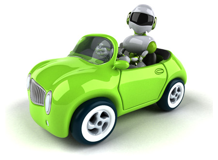 Green robot - 3D Illustration Standard-Bild - 104084825