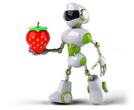 Green robot - 3D Illustration Standard-Bild - 104107400
