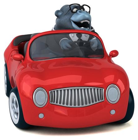Fun gorilla - 3D Illustration Standard-Bild - 104111061