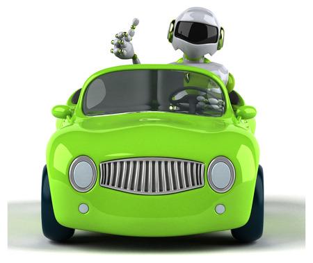 Green robot - 3D Illustration Standard-Bild - 104111494