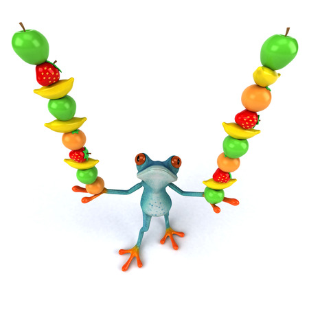 Fun frog - 3D Illustration Stock Illustration - 104122410