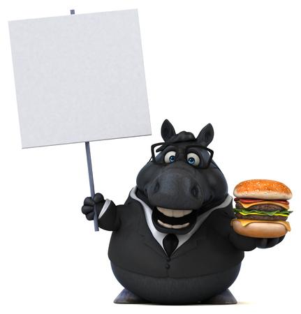 Fun horse - 3D Illustration Reklamní fotografie - 104125565