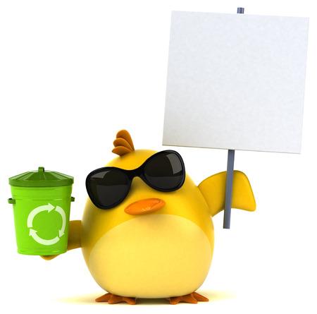 Yellow bird - 3D Illustration Banque d'images - 104299217