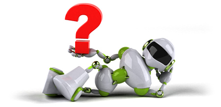 Green robot - 3D Illustration Standard-Bild - 104050490