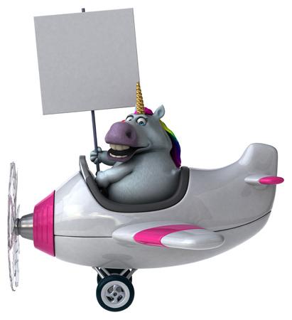 Fun unicorn - 3D Illustration Stockfoto
